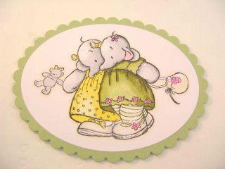 Изготовление двухсторонней открытки для ребенка, шаг 1