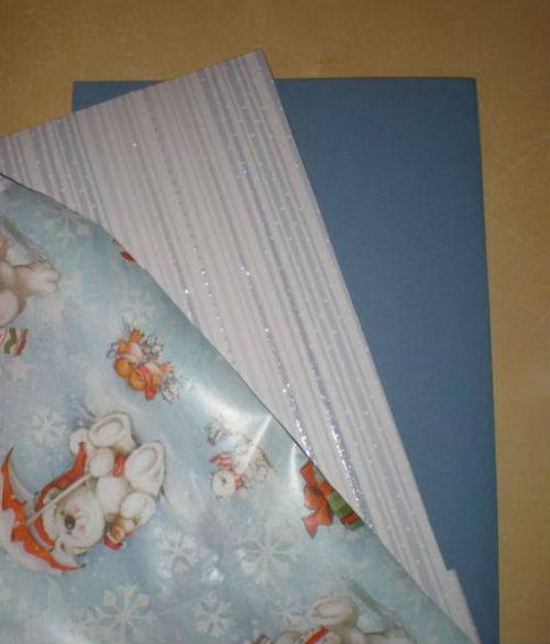 Материалы для изготовления новогодней открытки с мишками
