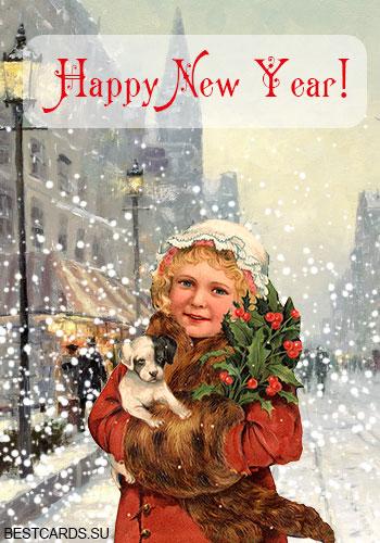 """Открытка """"Happy New Year!"""""""