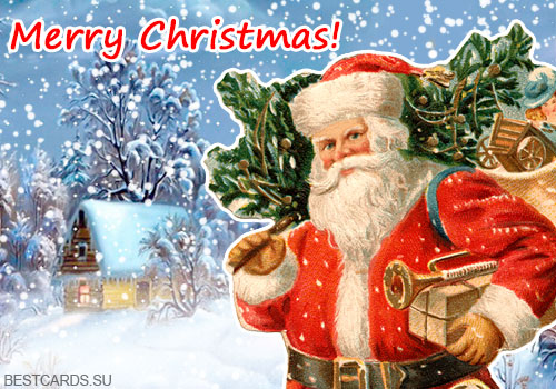 "Открытка ""Merry Christmas!"""