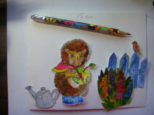 Рисование сказочной открытки ко дню рождения 11