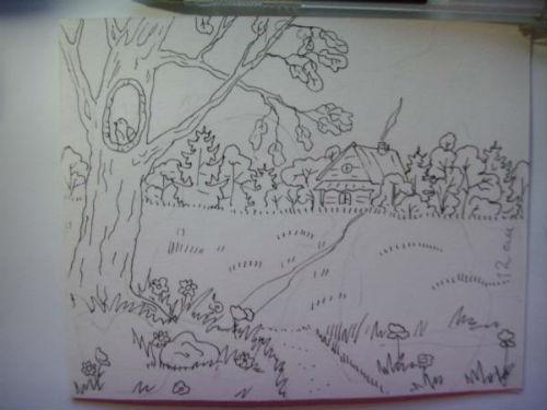 Рисование сказочной открытки ко дню рождения 12