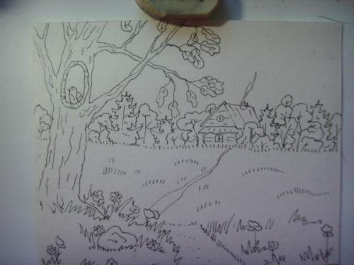 Рисование сказочной открытки ко дню рождения 13