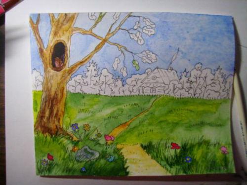 Рисование сказочной открытки ко дню рождения 17