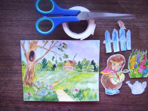 Рисование сказочной открытки ко дню рождения 18