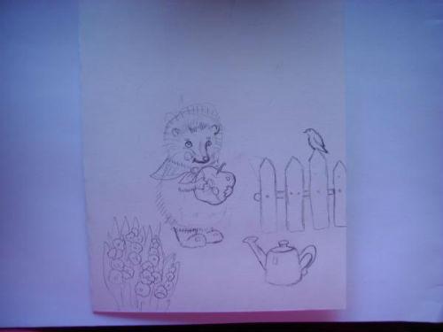 Рисование сказочной открытки ко дню рождения 2