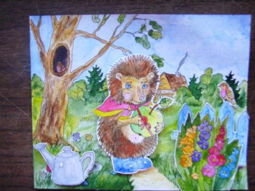 Рисование сказочной открытки ко дню рождения 20