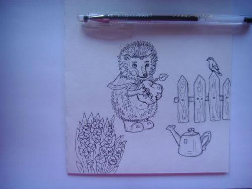 Рисование сказочной открытки ко дню рождения 3