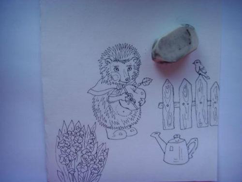 Рисование сказочной открытки ко дню рождения 4