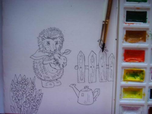 Рисование сказочной открытки ко дню рождения 5
