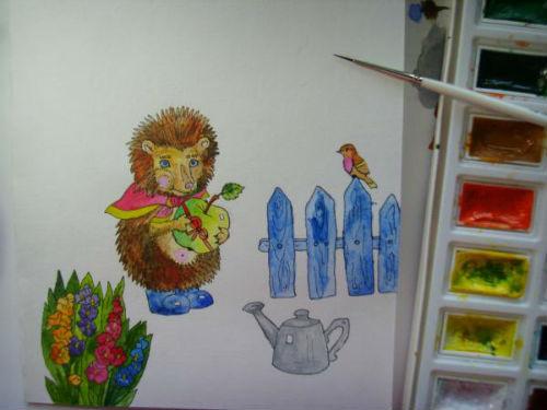 Рисование сказочной открытки ко дню рождения 6