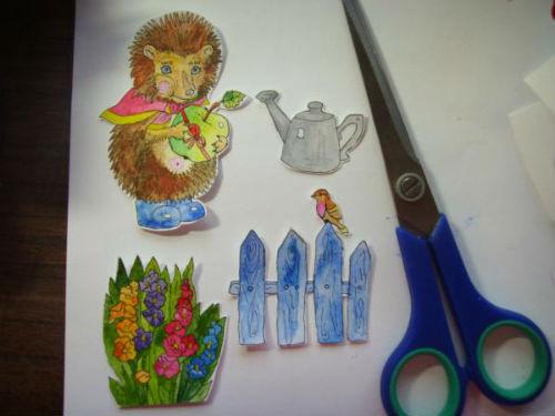 Рисование сказочной открытки ко дню рождения 9